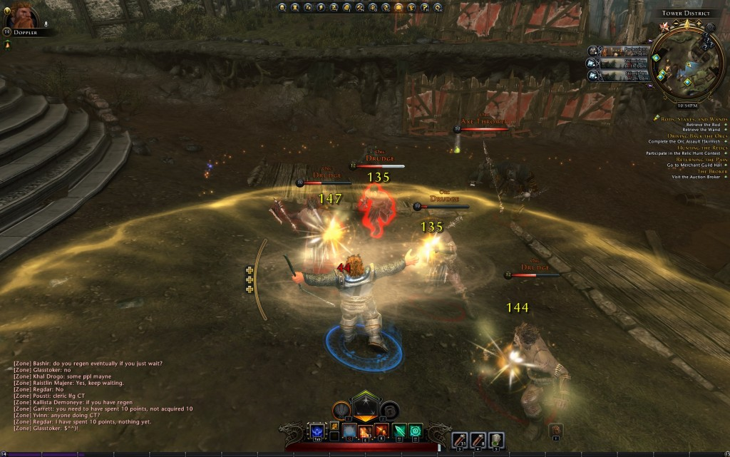 Doppler busting out all KINDS of AOE. this one not only hurts, but it heals all party members.