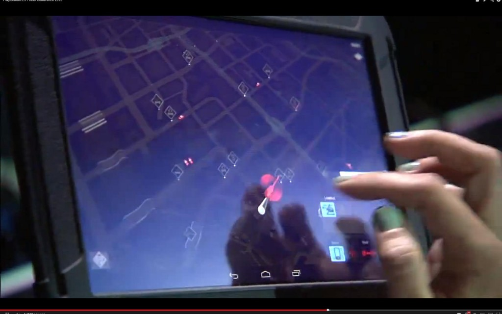 Watchdogs using a tablet on the PS4?