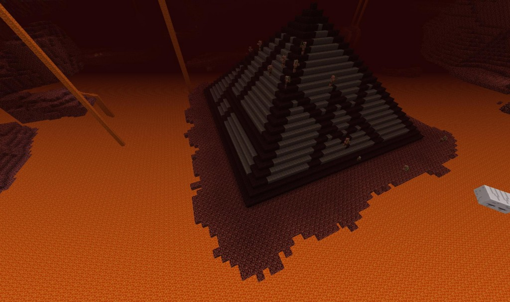 This platform was a bit of a pain to build even in creative mode.  This was freak'n huge.  In the end I was able to build my pyramid.