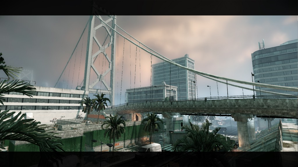 I've seen this level on Twitch. With a Capture the flag theme one can choose the easy route of running across the bridge, but you're kind of out in the open. You at least have options right?