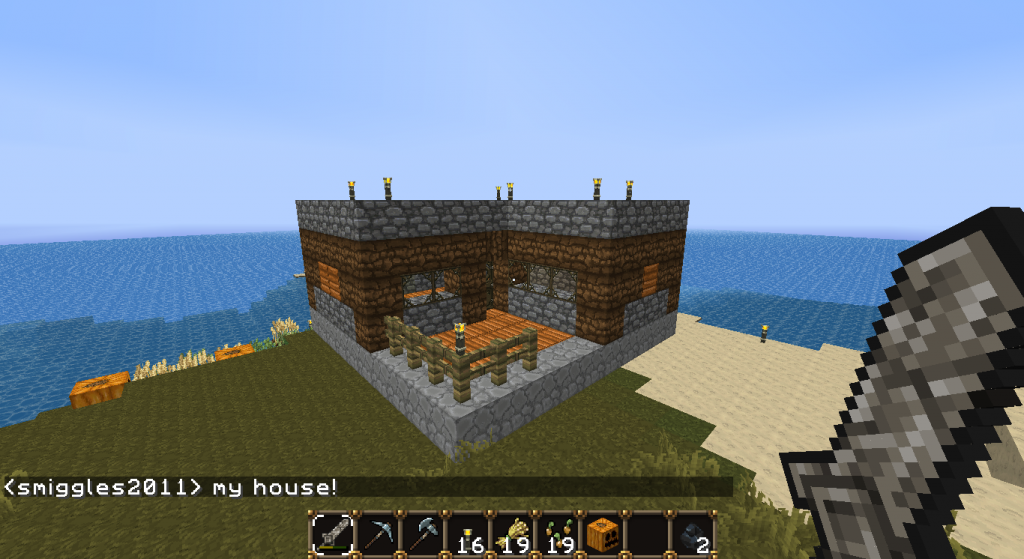 My house! Sorta small but I'll make a bigger one later on when I have more stuff to use.