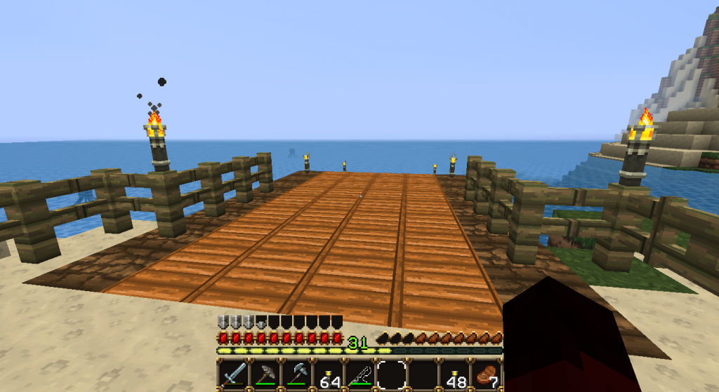 I built a dock! Now I can fish with ease and have a place for a boat!