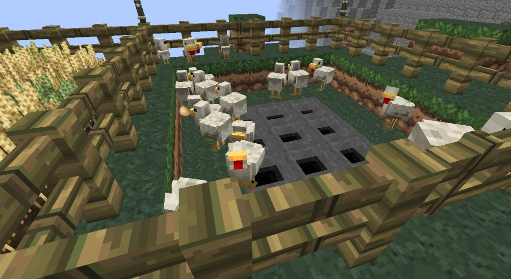 My chicken pen! Yes those are hoppers, for when they lay eggs and I'm not there to pick them up!