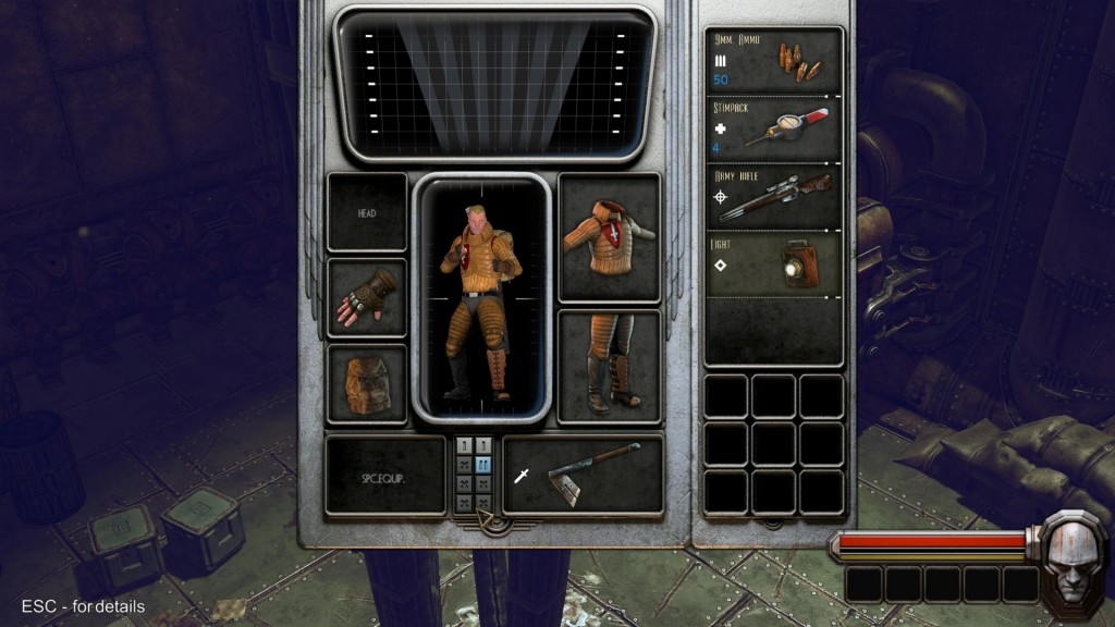 An early look at the inventory system. I've seen some heavy gear take out the ability to have other slots. I can see there will be a lot of heavy thinking if you really want that extra defense or not. (Running around naked is probably a bad idea too.)