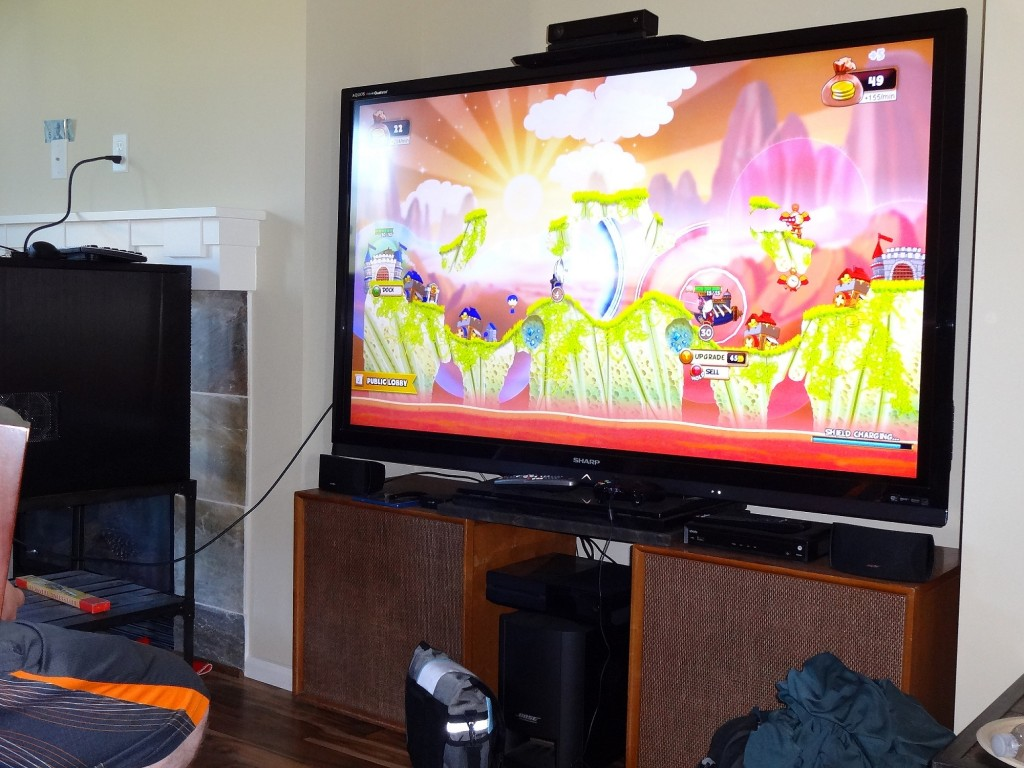 Other than friends, another thing that makes Cannon Brawl more fun is giant TV's!