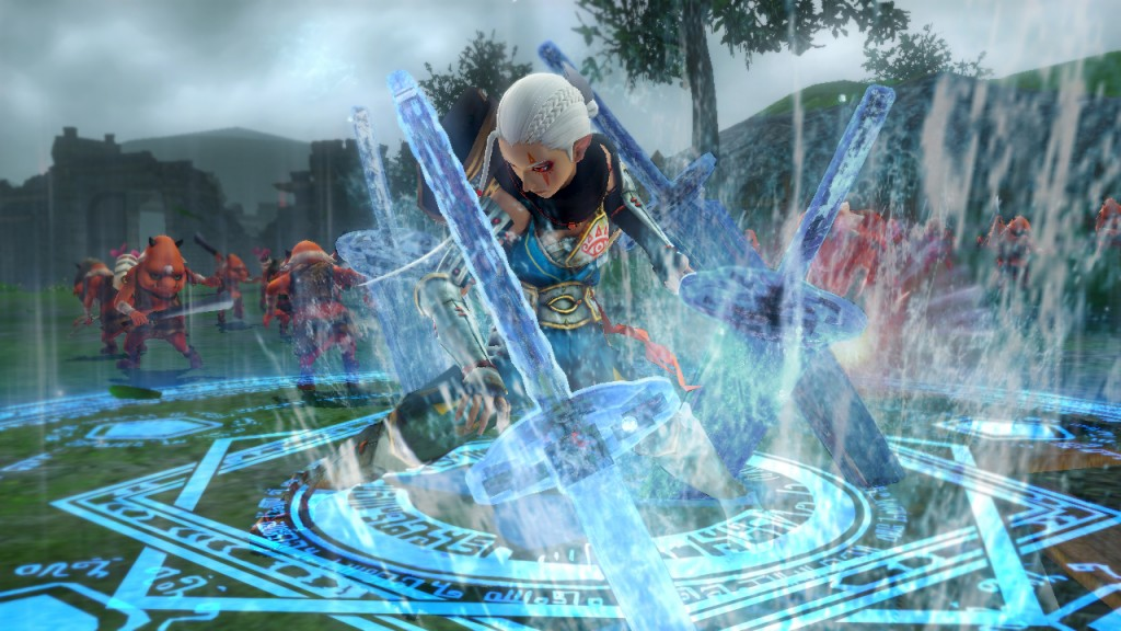 Fight as Impa, summon water swords and chuck them at people.