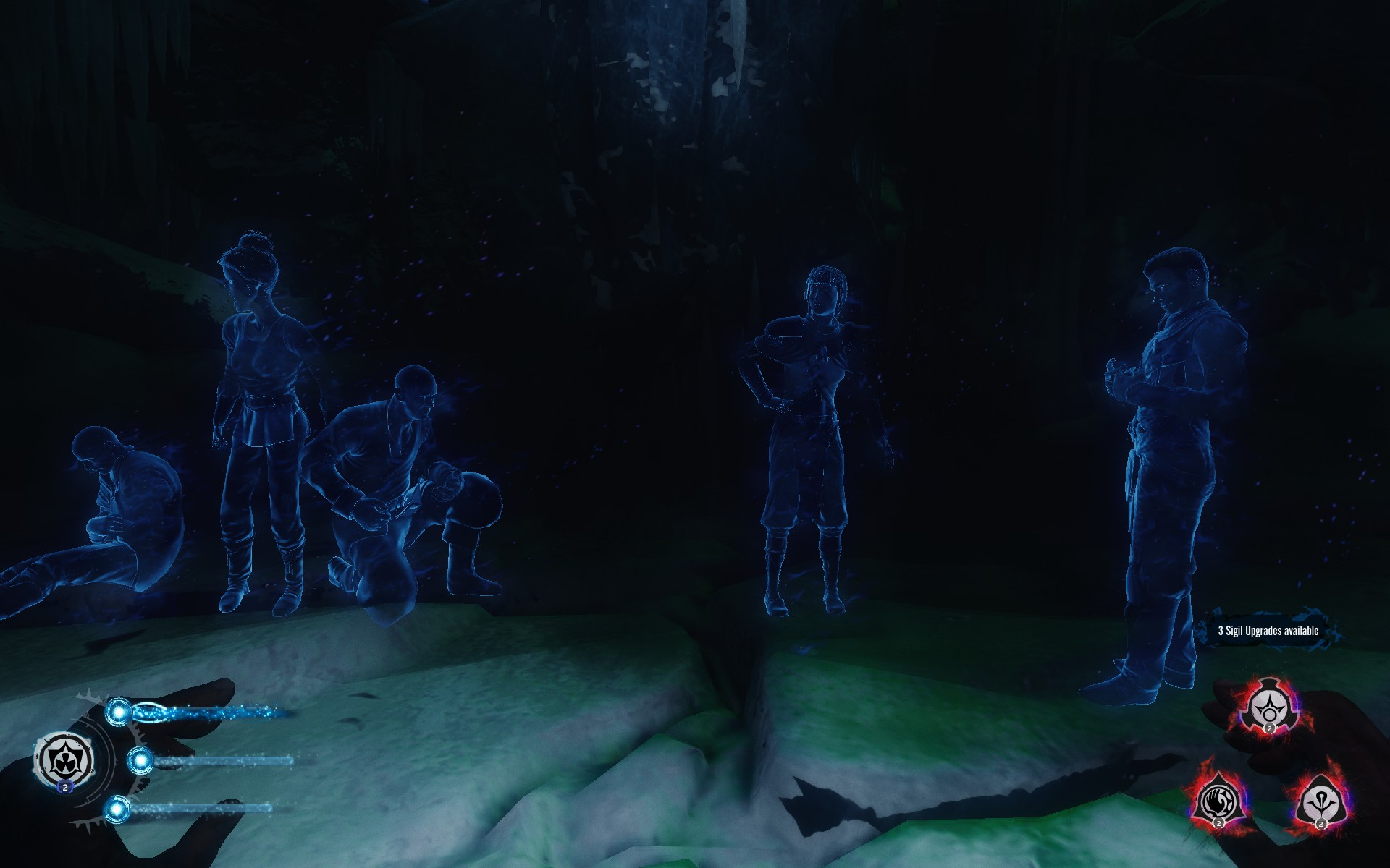 A lot of the background story is told via these ghostly images played out in front of you. If you sit through them, they even give you loot! Fantastic!