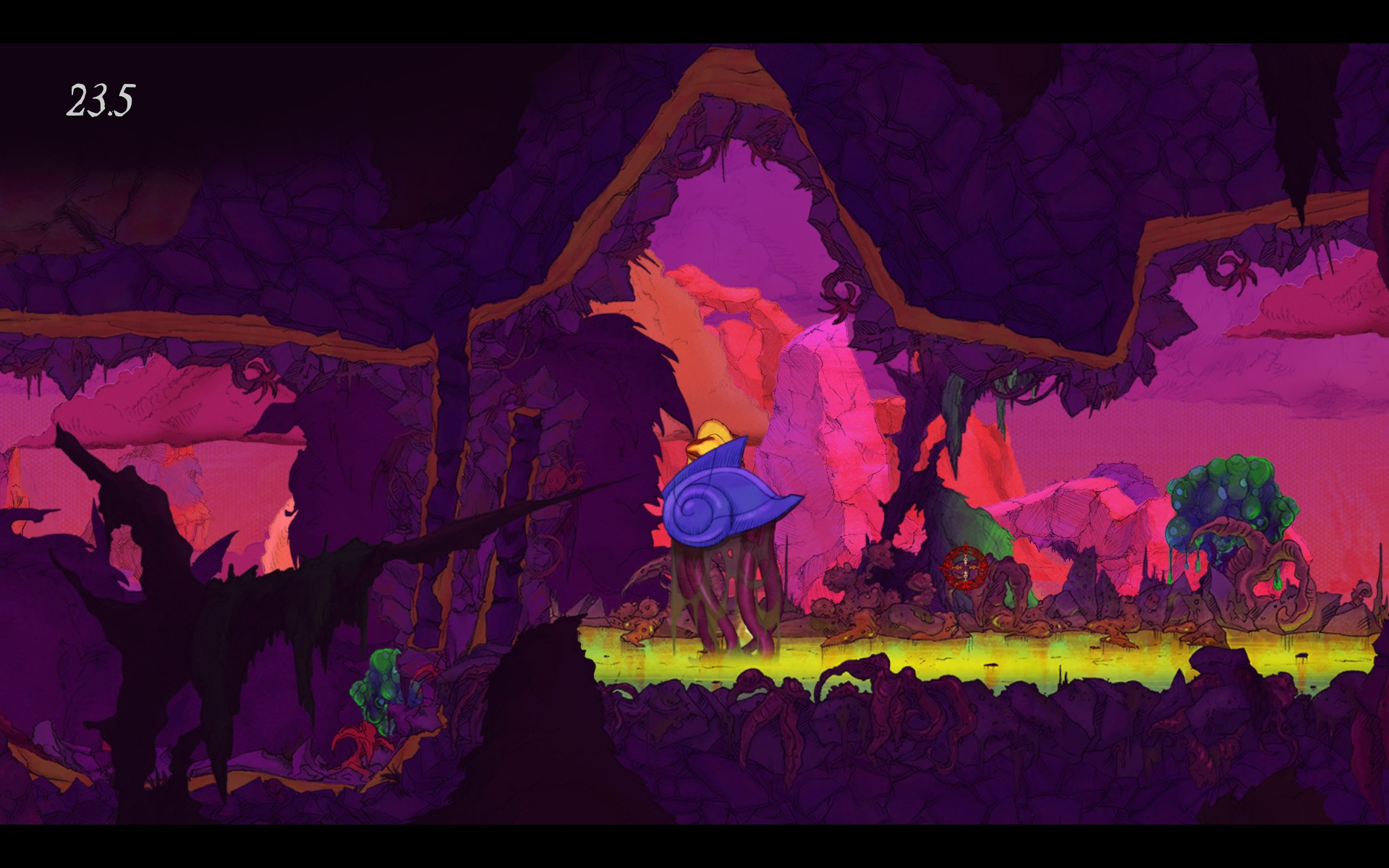 There are some funky, trip-induced levels and I love the vivid use of colors. If nothing else, this game looks beautiful. Creepy and deadly... but still beautiful.