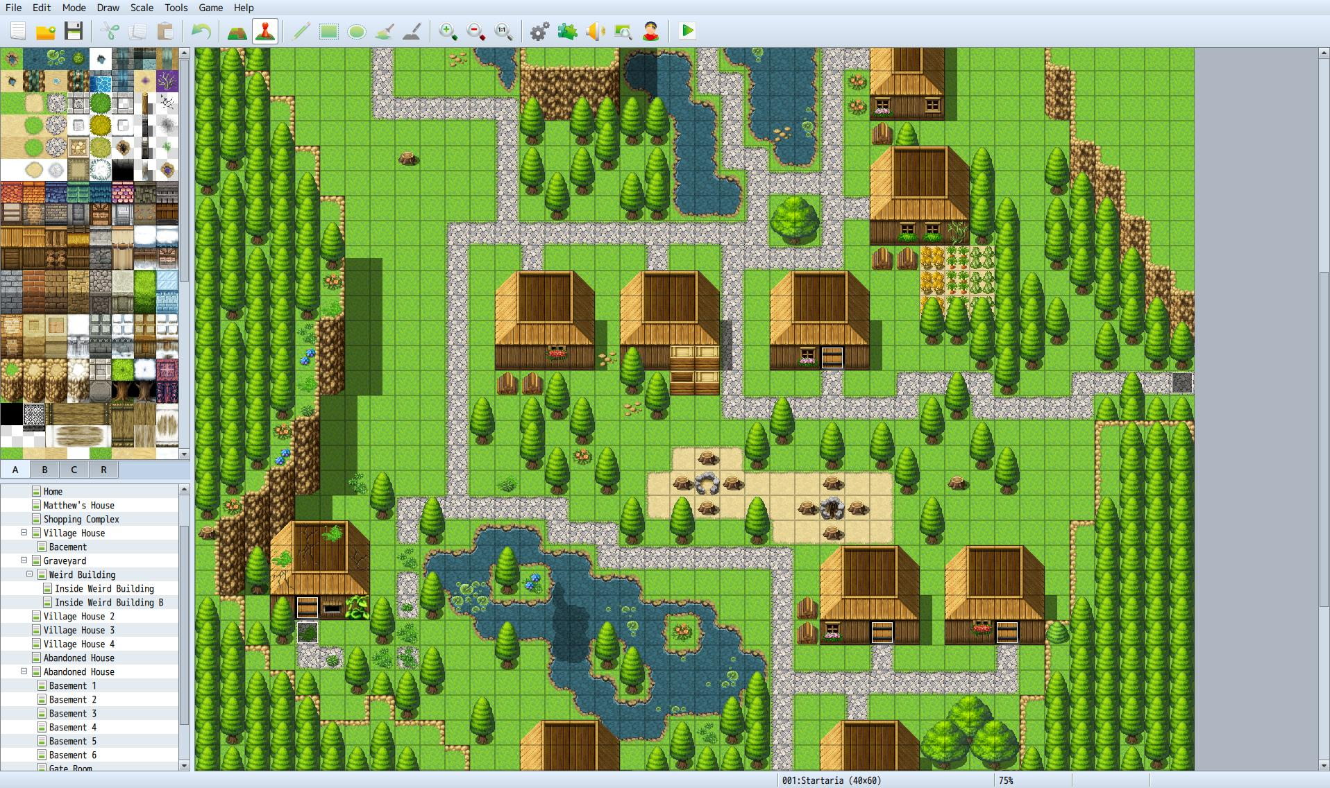 Ah... ye olde starting town. This took a long time to setup and I'm still not satisfied with it.