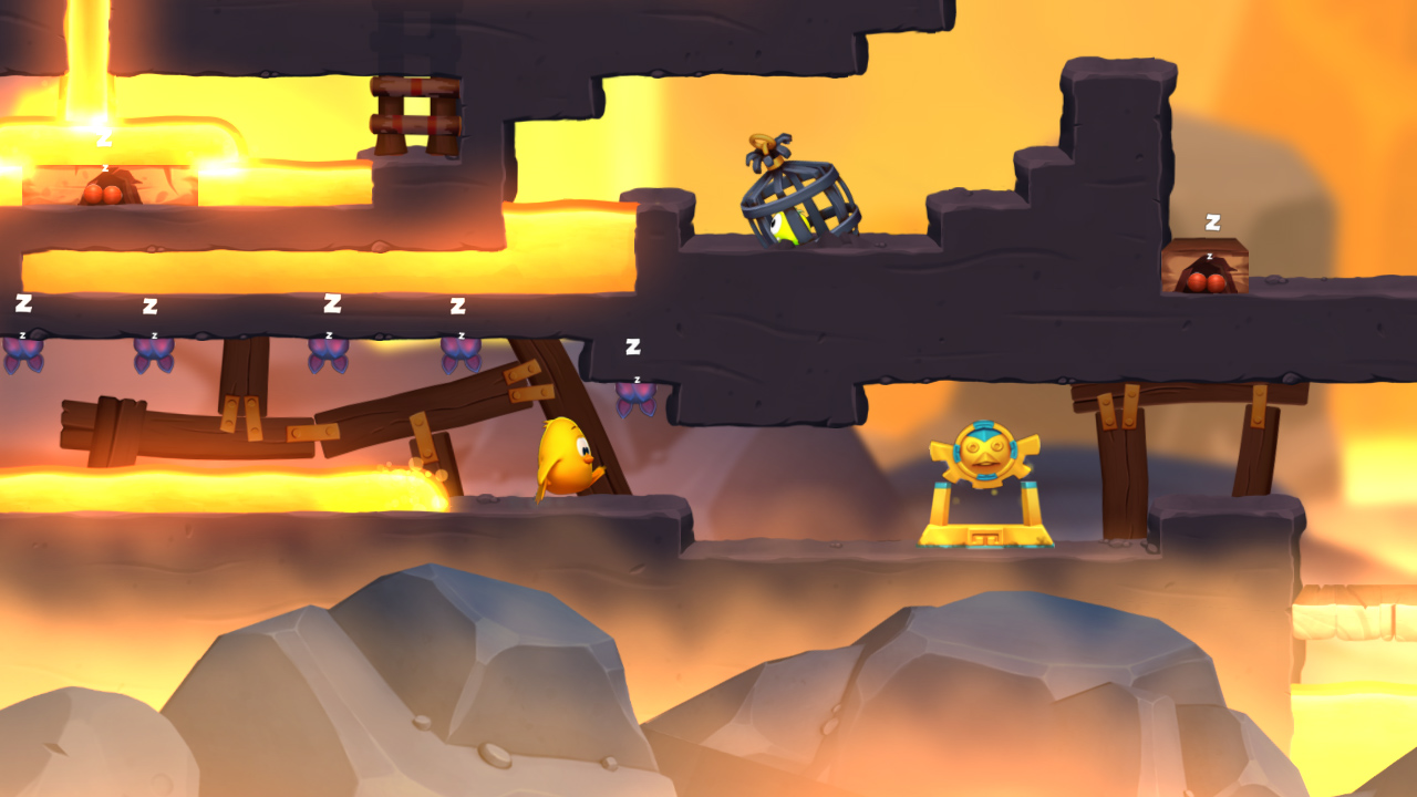 Safety tip: lava is not your friend, even though it may try to hug you.