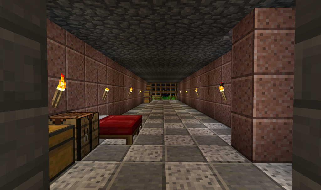We made the underground look a little nicer. This was so it was easier to get to the farm.