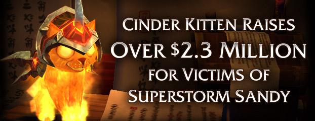 wow cinder kitten