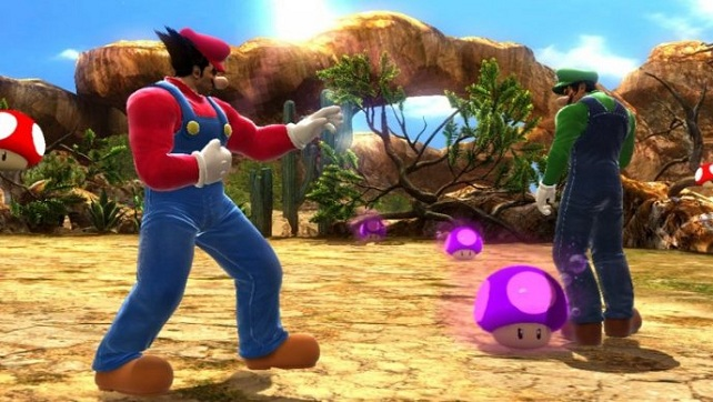 Heihachi Mario takes no pity on those who stand in front of poison schrooms.