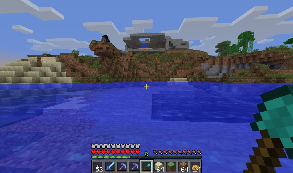 This is where the tube to the underwater base was starting at.