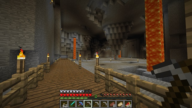 This path leads to where the center building will be.  It started out as a stalagtight, but it will not be since I have different ideas.
