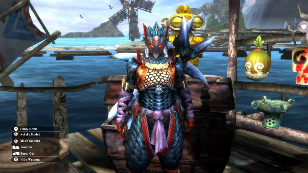 Here's a picture of some sweet armor made from a Nargacuga.  There are better sets, but this one is pretty nice.  Uragaan anyone?