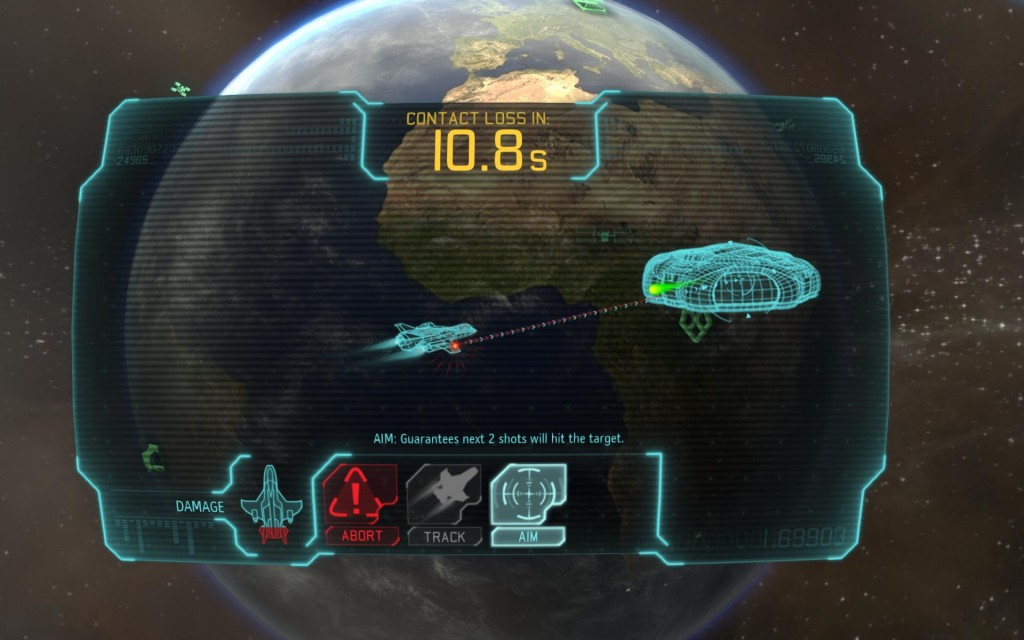 It's a fight to the death, either yours or theirs.  UFO's are kind of in your face in this game.