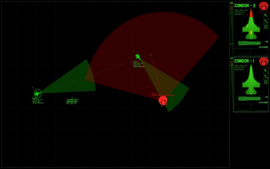 I apologize, but pretty screenshots just weren't happening for this part of the game but the functionality is here. You can actively dodge enemy missles and change your path to the aleins. What a fun mini-game-esque approach to this!