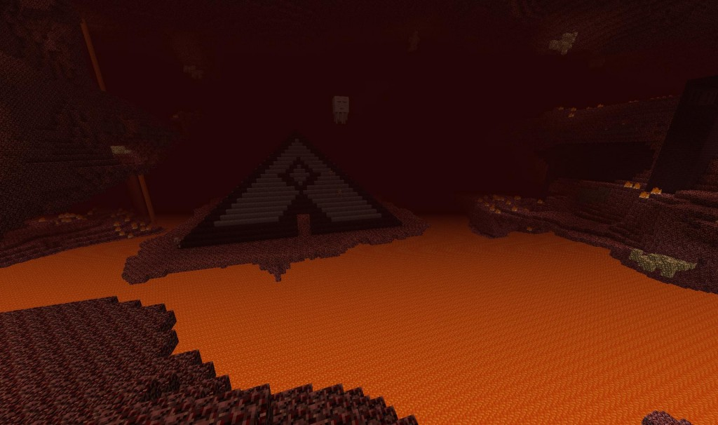 "This is the ""entrance"" to the Pyramid.  However, the more grand plan is to have this accessible with a nether portal only.  As per my usual method."