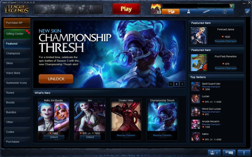 Want to look different?  That will cost you money.  Do you want to play multiple champions, that will just take time.  Well played Riot.