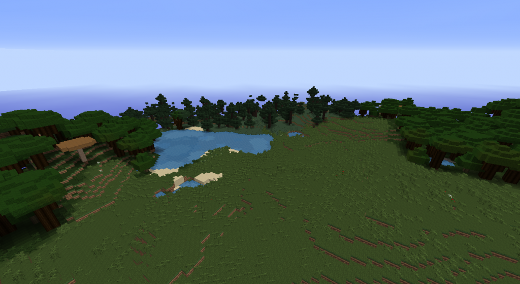 These are just some biomes that I had found around me, just showing you what I had to work with from the new start.