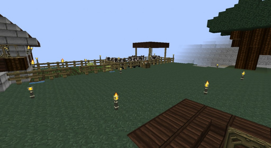 This is what the rest of the farm that I'm working on looks like at the moment. Still planning on adding more to it!