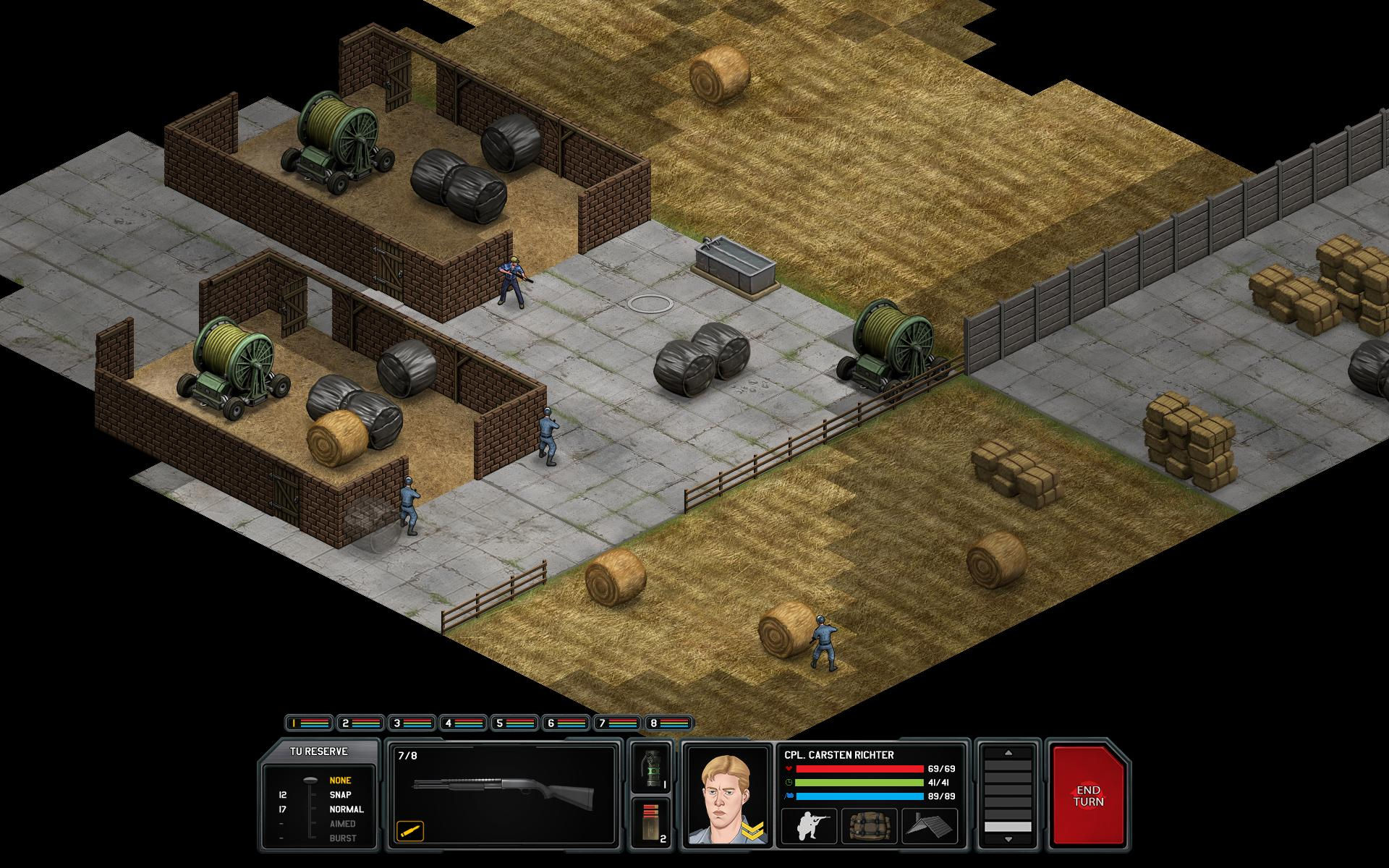 One last note, the NPCs in Xenonauts are freaking amazing. Some are just helpless civilians and do stupid civilian things, but the guys with guns (soldiers and farmers) actually use thier guns to defend themselves. I've had some levels be finished by some random farmer killing an alien before my guys got to the part of the map. Well played Goldhawk Interactive, well played.