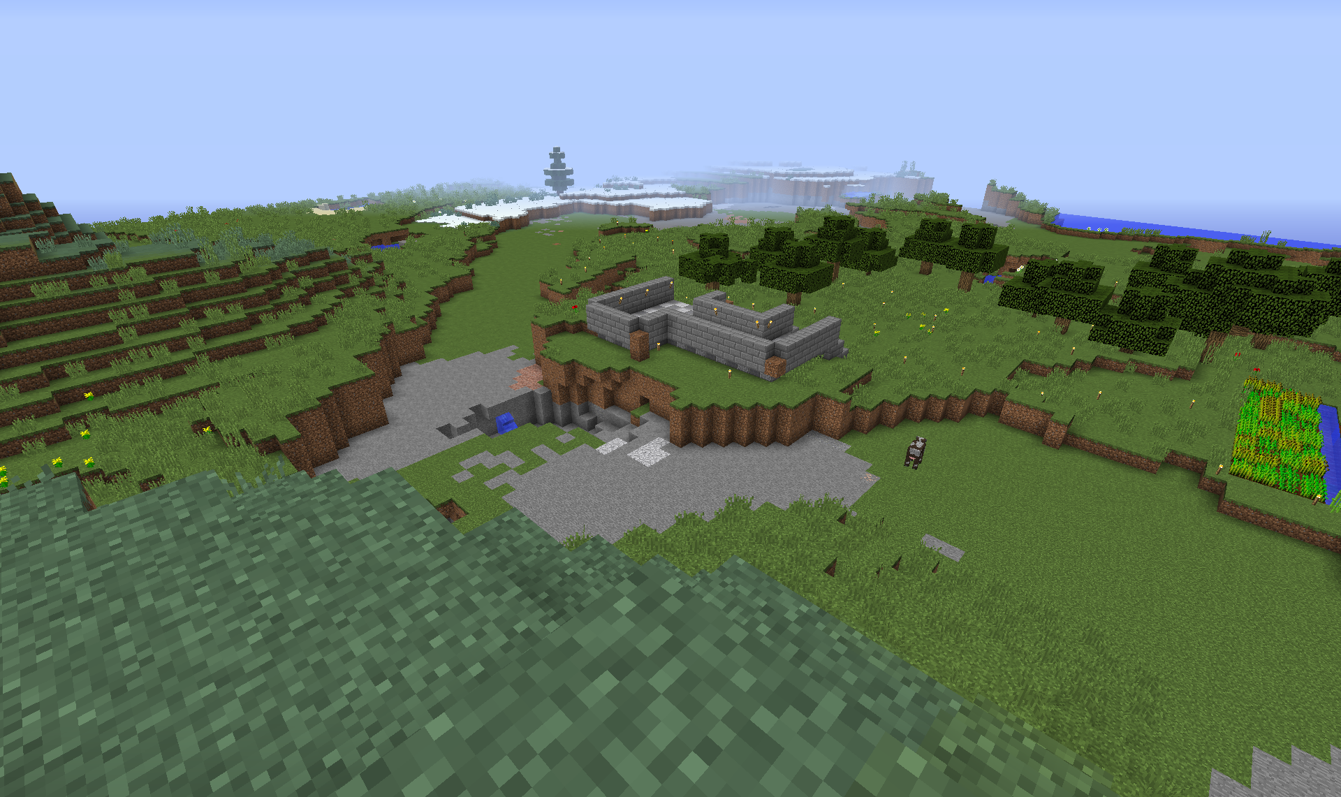 This and the next few shots will be of the area surrounding the Island to show how big I want this to be.