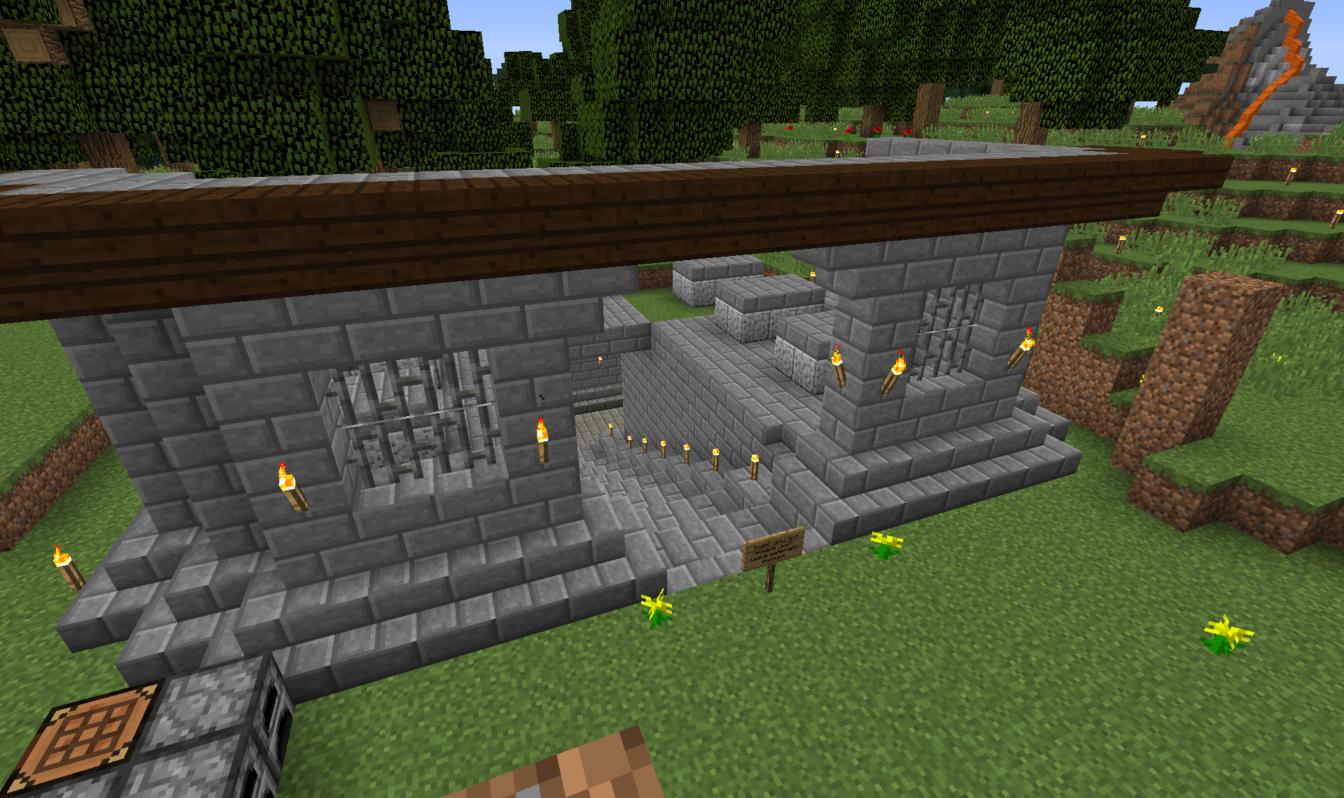 The final thing I have to show you guys is my mausoleum. This is where I'll be building my nether portal as well in the basement.