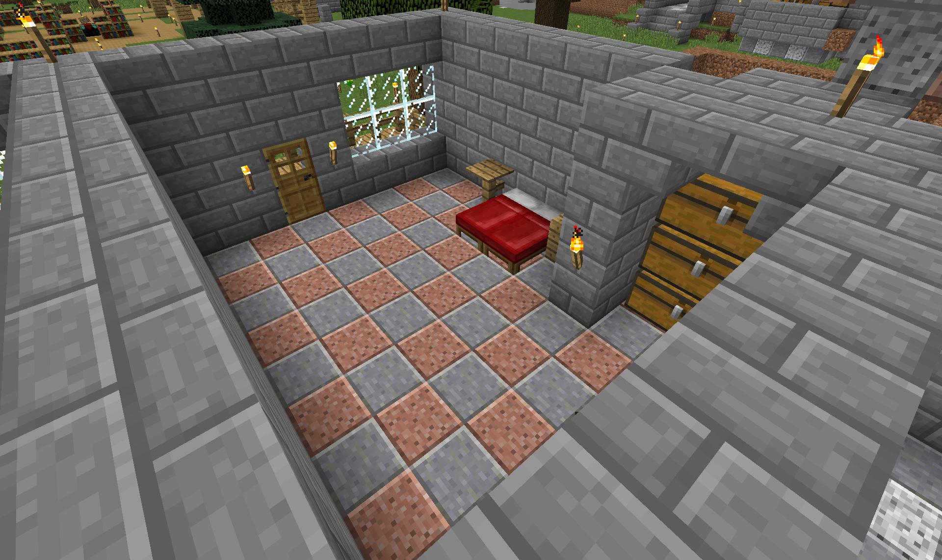 So I've made rooms that all are shaped the same with a specific height and all that and gave it some basic furniture.