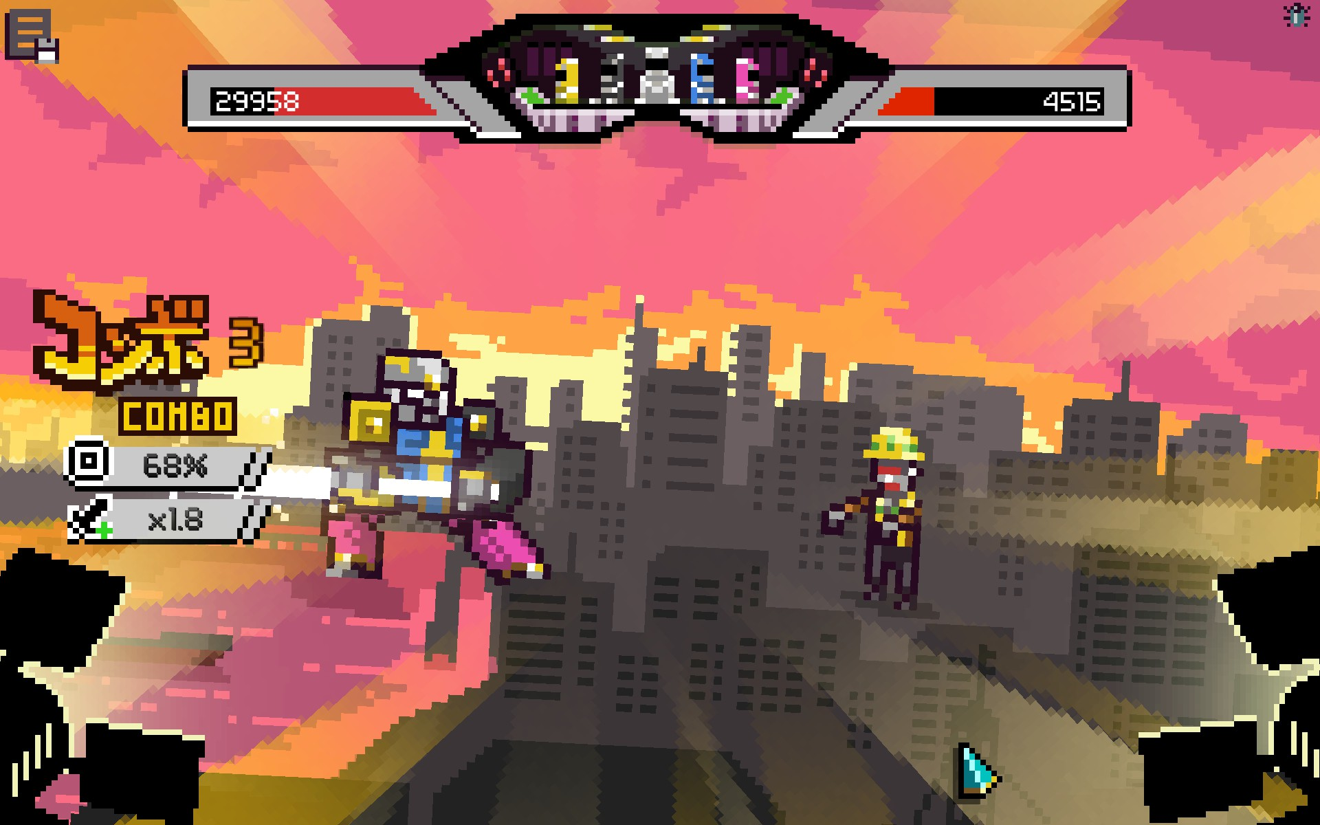 Giant mechs fighting giant zombie construction workers... this game has... everything?