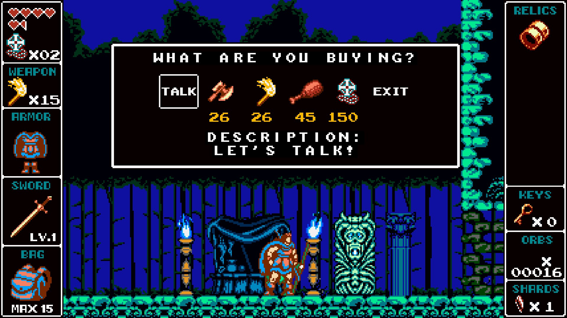 This vendor is kind of a jerk. He can get around and procure different useful items without much difficulty it seems and he increases the price as you continue buying a certain item. (Those freaking life tokens are getting way to spendy.)