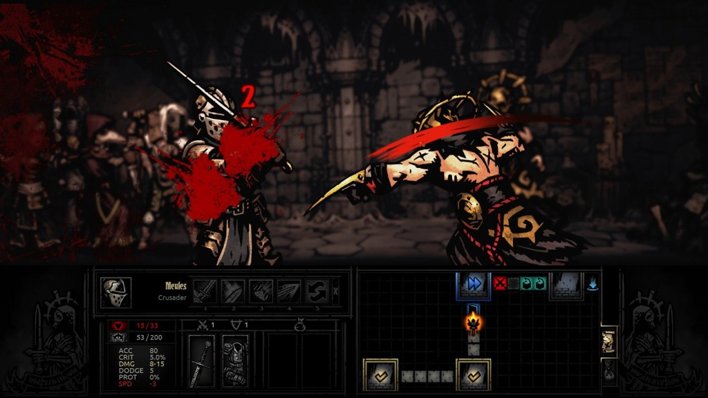 It has the look and feel of a comic book, but no, its Darkest Dungeon. The graphics and art might even make H.P. Lovecraft proud.