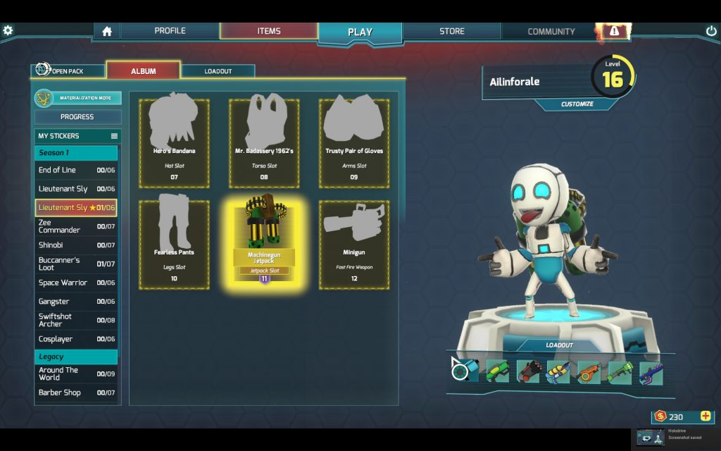 Customize your character with all sorts of fun looking outfit choices. I love my Machinegun Jetpack! I haven't received much else though... so I guess I got lucky.