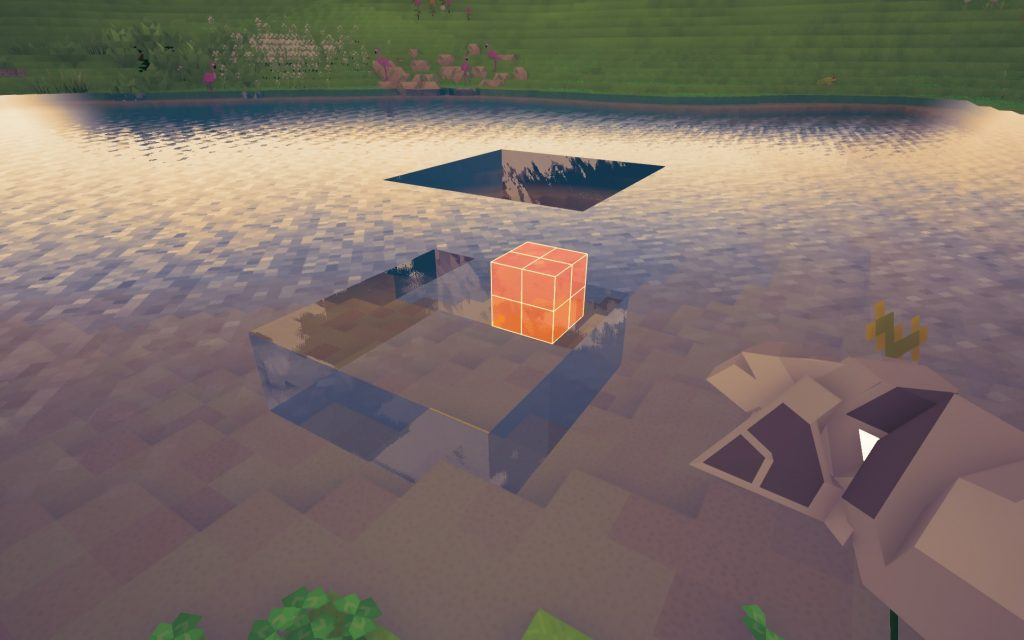 As you can see, the water mechanics are a bit funny right now. They work like the ground tiles do. I would like to see them do some comparative math that can tell if you've taken more than the amount of surface water and then drop it down a level. If you don't take that much in a mater of time, then the water would reset. If you took more than the surface level of water, then you would be draining the lake and only hampering yourself in the end.