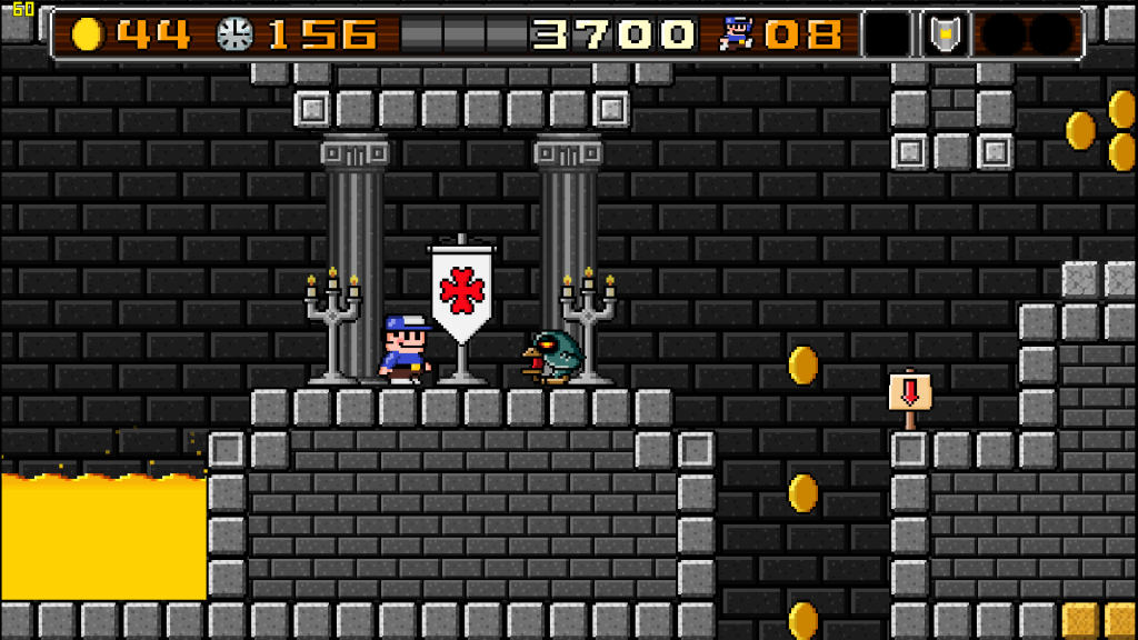 There are very clear parralels that can be drawn from Mario games, but come on, castles, coins and platforms to jump on? Not everything with these elements are Mario clones. Now if 8BitBoy here had been wearing overalls...