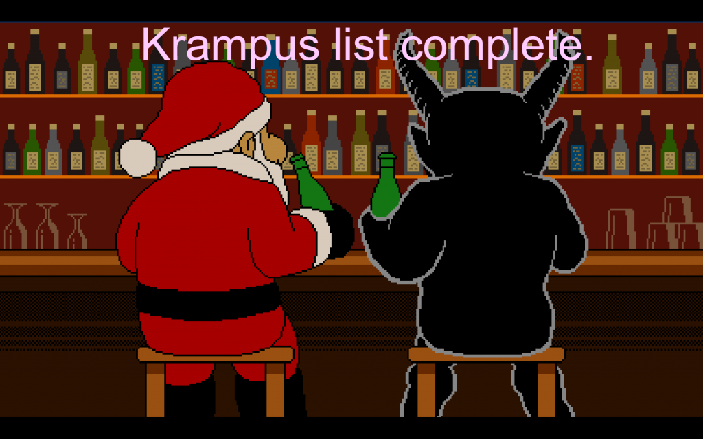 Santa isn't the only person that needs a break after a long ... days work. Does the Krampus work/prepare all year for this day?
